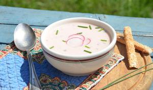 Délice aux radis, potage froid