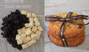 Cookies flocons d'avoine, mures séchées et noix de coco bio