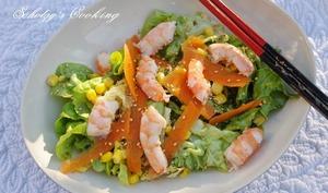Salade de crevettes aux saveurs asiatiques