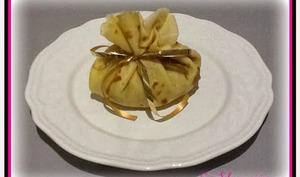 Aumônières pommes- amandes- caramel au beurre salé