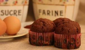 Muffins tout choco au lait de coco et au rhum
