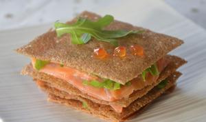 Millefeuille de crêpes sarrasin saumon