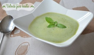 Soupe minute fèves basilic