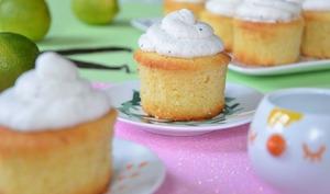 Cupcakes noix de coco vanille et citron vert