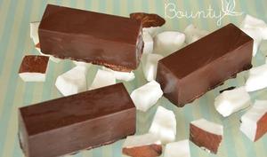 Barres glacées choco coco façon Bounty