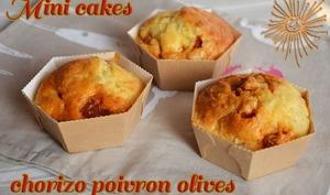 Mini cakes au chorizo, poivron et olive
