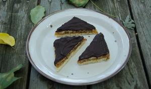 Triangles aux noix et au chocolat