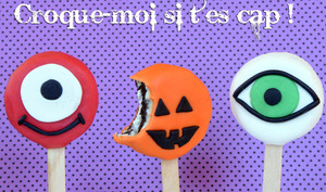 Sucettes biscuits Oréo Halloween monsters