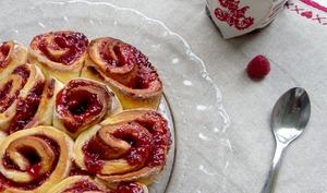 Raspberries Rolls, petites brioches roulées à la framboise