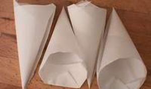 Cornet en papier sulfurisé
