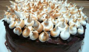 Gâteau étagé chocolat-amande