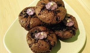 Muffins au chocolat et aux myrtilles