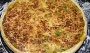 Tarte épinards/fêta/jambon