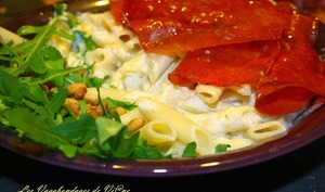 Pennes à la Bresaola et crème de parmesan