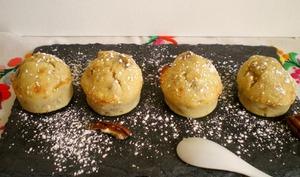 Mini muffins banane et noix de pécan