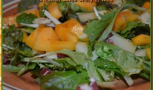 Salade mesclun et kaki
