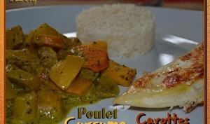 Filet de poulet aux 2 carottes et curcuma