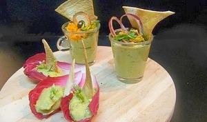 Verrines guacamole pour une cuisine de placard