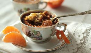 Crèmes brûlées à la mandarine et au thé des mille et une nuits