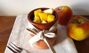 Salade de pommes et mangue au miel et à la cannelle