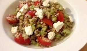 Salade de boulghour quinoa, féta, tomate
