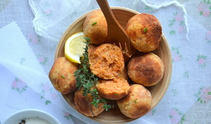 Boulettes végétales lentilles corail-coco { sauce épicée au lait de coco }