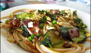 Duo de spaghetti et courgettes