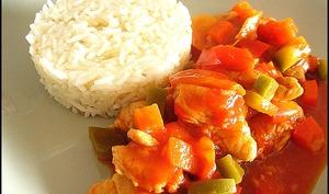 Dinde à la sauce chinoise et riz basmati