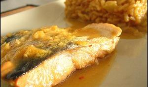 Papillotes de saumon au gingembre