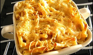 Gratin de macaroni au gruyère