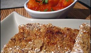 Filet de poisson pané au son et à la coriandre