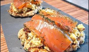 Blinis au son d'avoine et saumon fumé