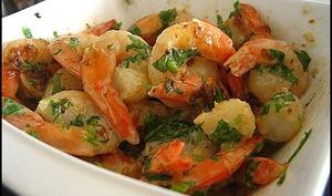 Crevettes sautées thaïes