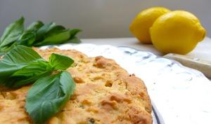 Moelleux citron - basilic à l'huile d'olive