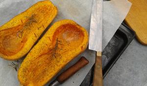 Courge Butternut rôtie aux herbes de Provence et à l'huile d'olive