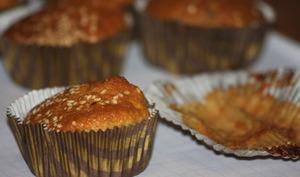 Muffins à la vanille et aux zestes de citron vert