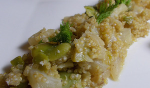 Quinoa au fenouil et aux fèves