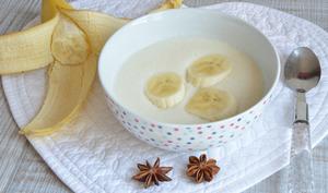 Soupe de céleri rave, badiane et banane