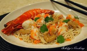 Salade de vermicelles de riz aux crevettes