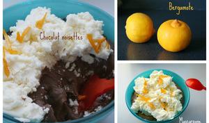 Crème au chocolat noisettes chantilly au mascarpone
