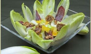 Salade d'endives,vinaigrette à l'orange