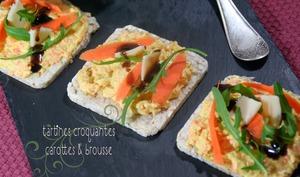 Tartines Croquantes Carottes et Brousse