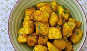 Céleri-rave rôti au cari de Madras et à l'érable