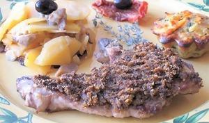 Côtes d'agneau en croûte d'olives