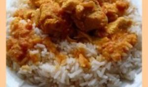 Curry de poulet aux abricots