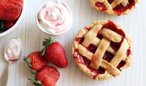 Mini tartes aux fraises : pies