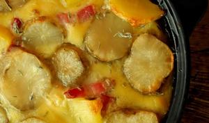 Gratin d'Héliantis et de pommes de terre au thym