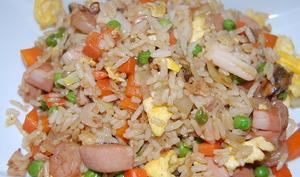 Riz cantonais aux fruits de mer