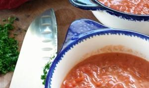 Soupe de betteraves rouges aux tripes