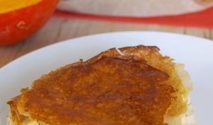 Bricks façon tarte au potimarron, poireaux, chorizo et feta